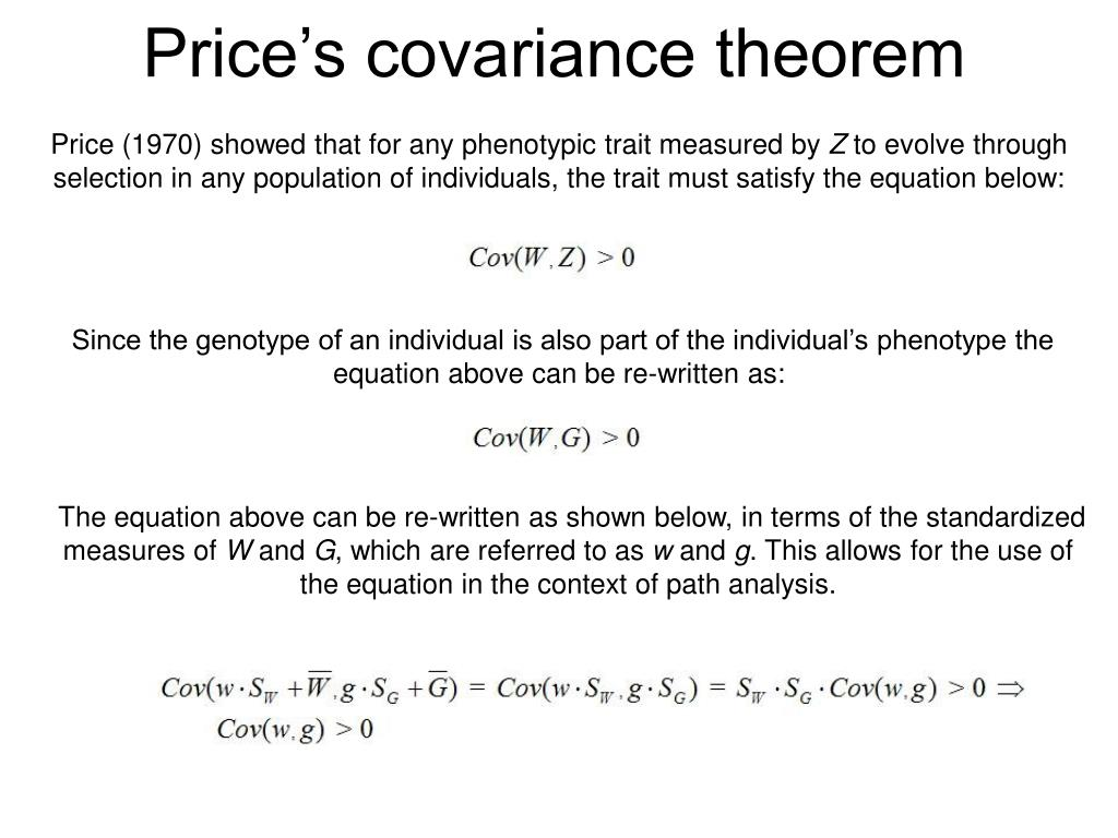 Price's covariance theorem