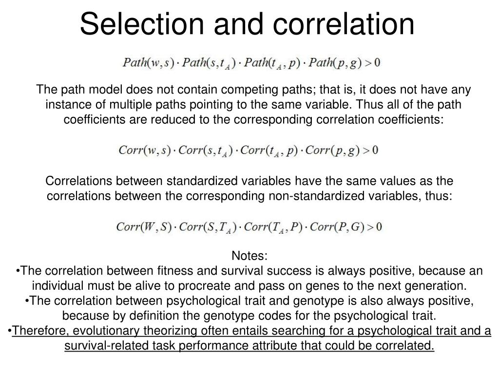 Selection and correlation