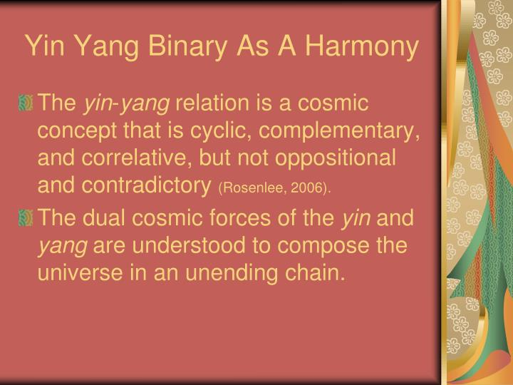 Yin Yang Binary As A Harmony
