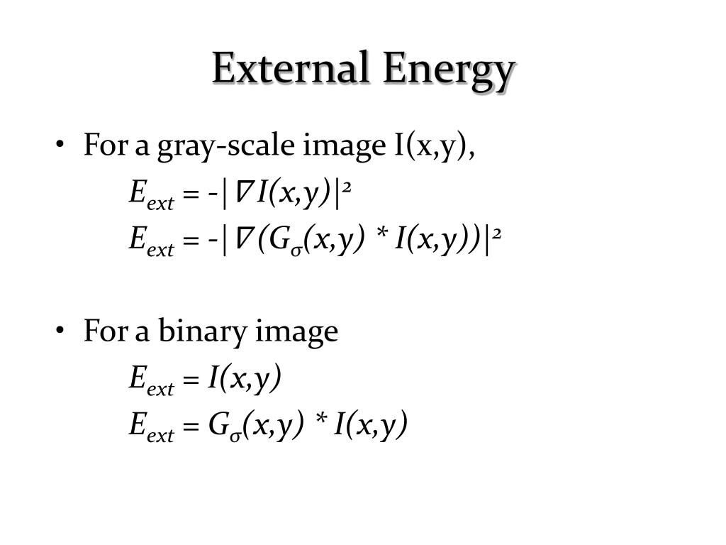 For a gray-scale image I(x,y),