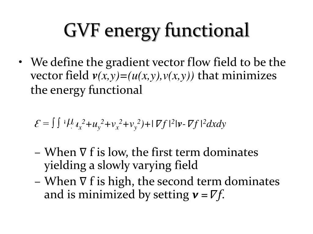 GVF energy functional