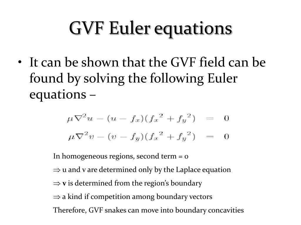 GVF Euler equations