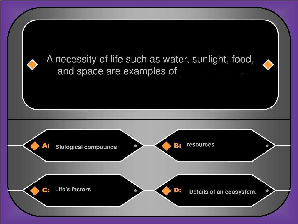 A necessity of life such as water, sunlight, food,