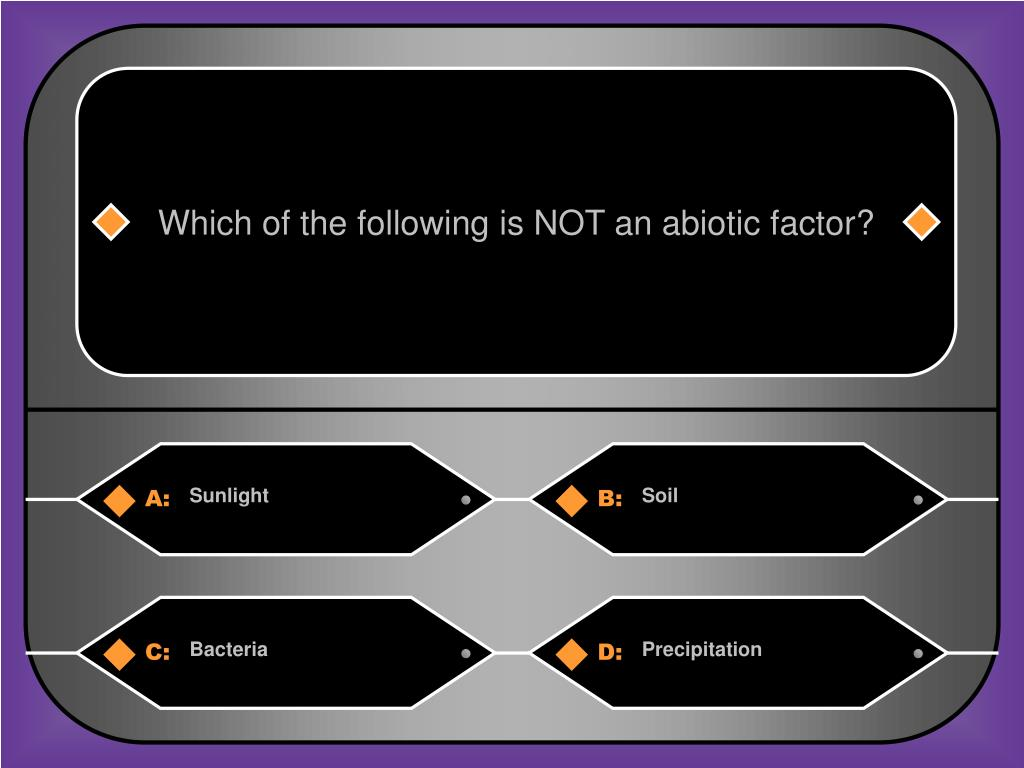 Which of the following is NOT an abiotic factor?