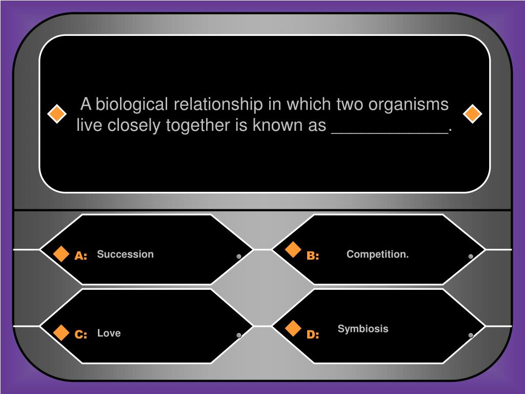 A biological relationship in which two organisms