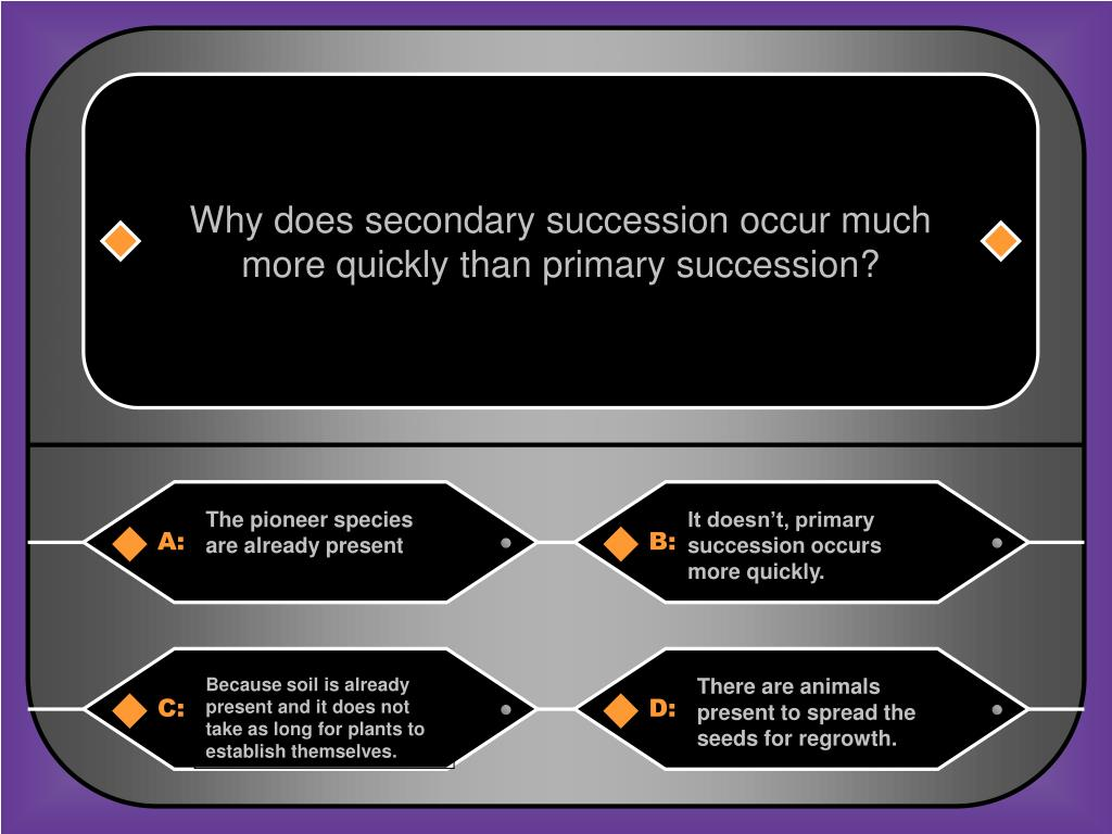Why does secondary succession occur much