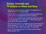 groups channels and tv stations on shure and sony