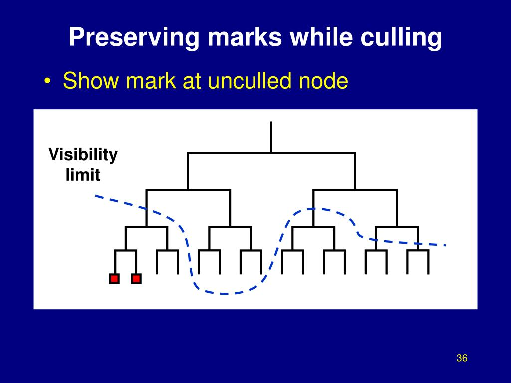 Preserving marks while culling