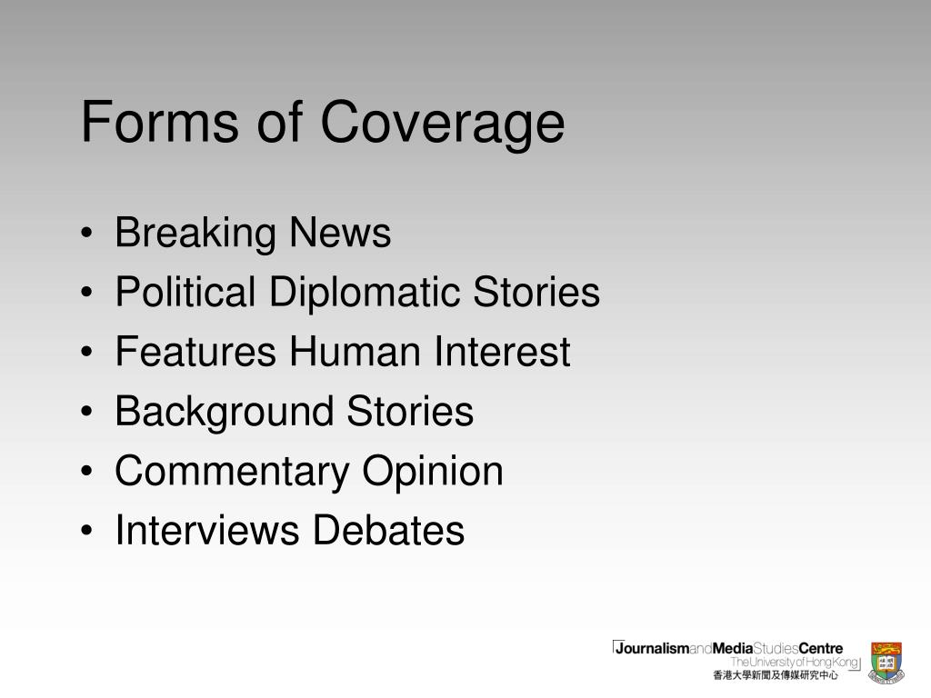 Forms of Coverage