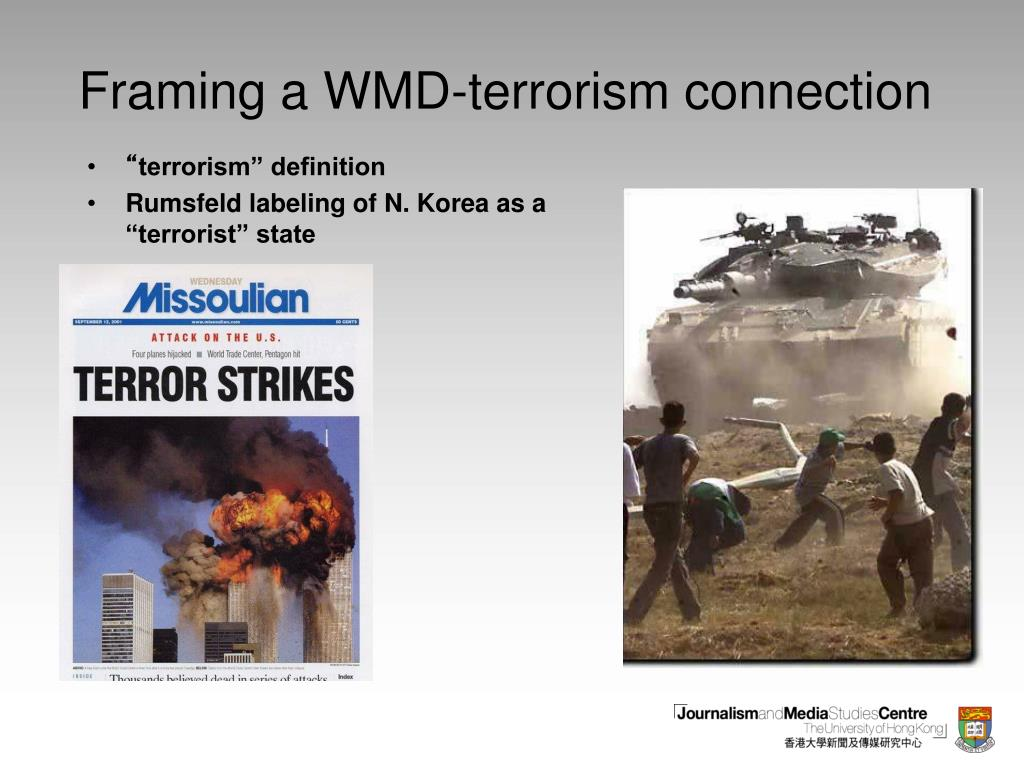 Framing a WMD-terrorism connection