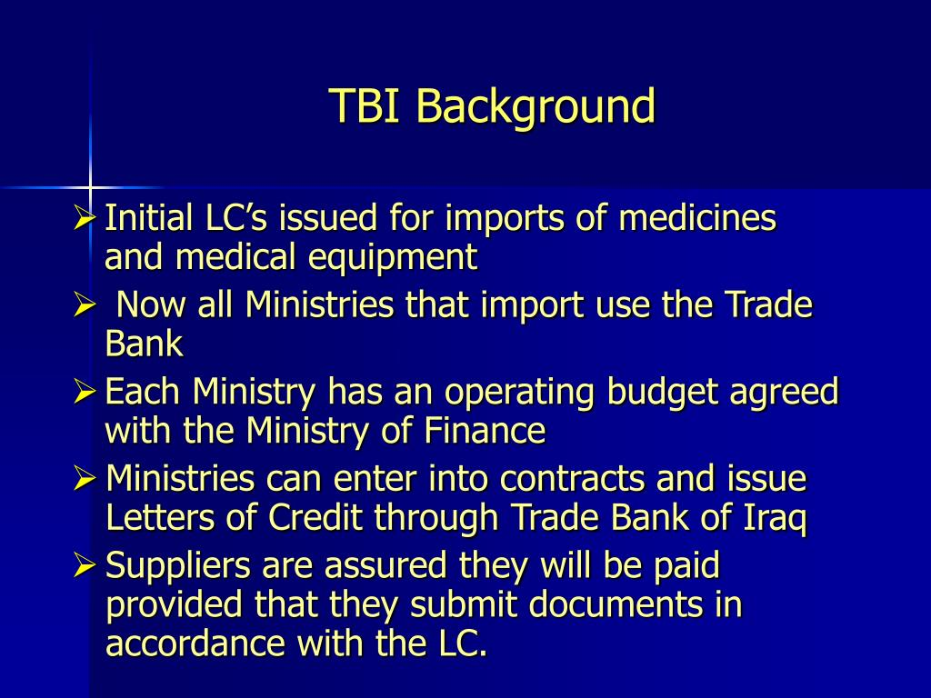 TBI Background