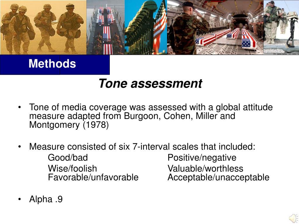 Tone assessment