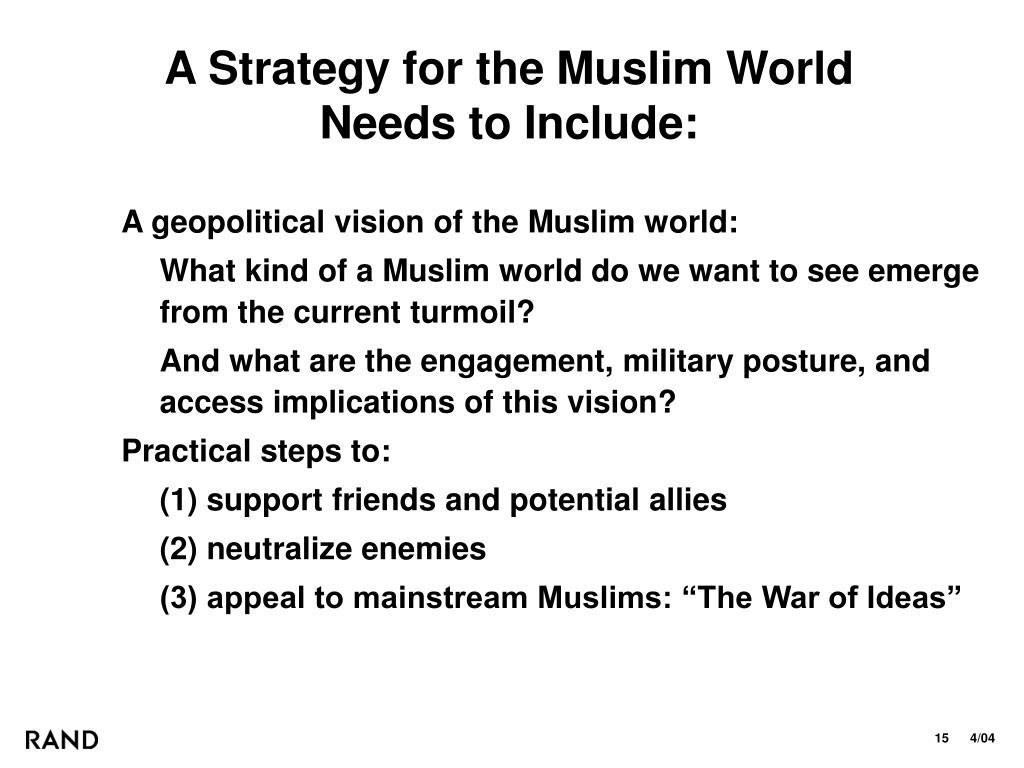 A Strategy for the Muslim World
