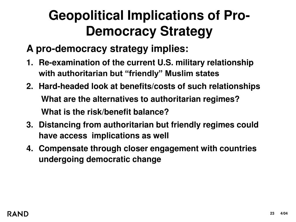 Geopolitical Implications of Pro-Democracy Strategy