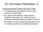 on information revelation 2