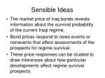 sensible ideas