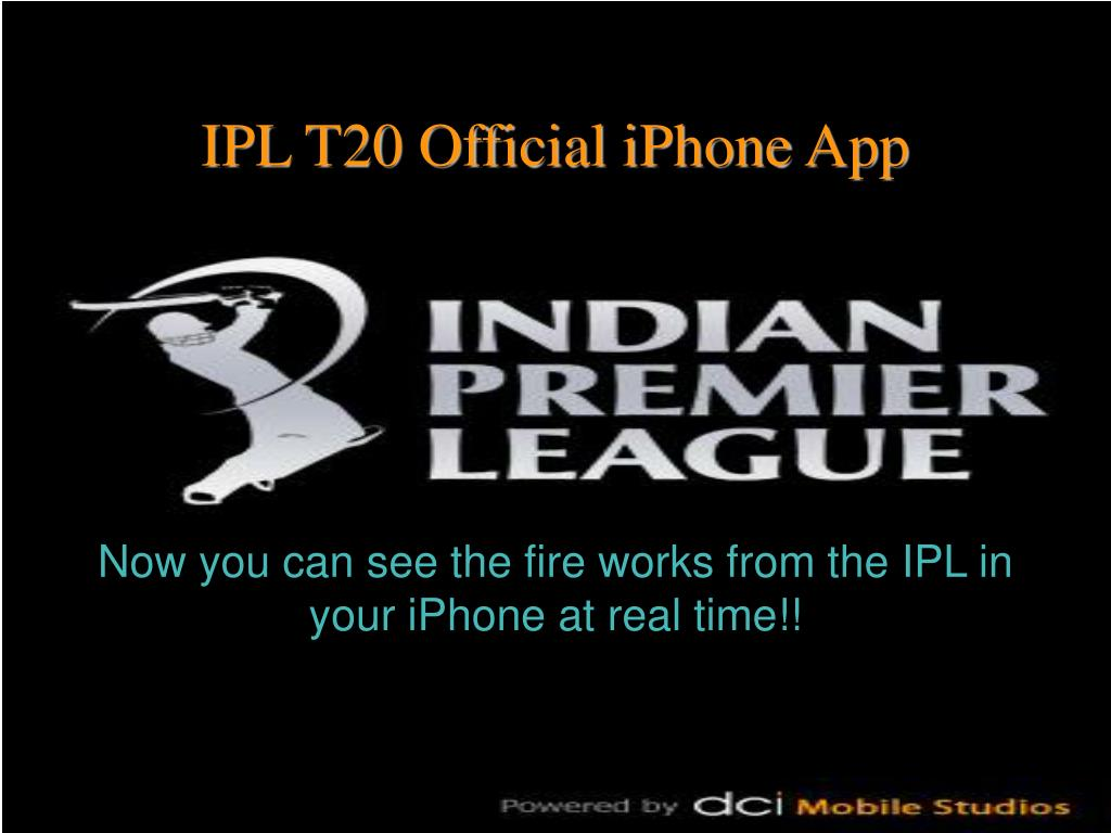 Now you can see the fire works from the IPL in your iPhone at real time!!