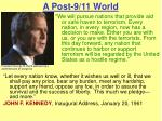 a post 9 11 world