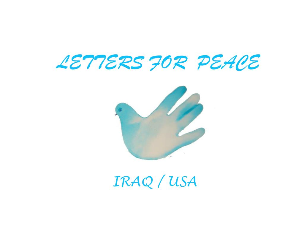 letters for peace l.