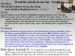 10 suicide attacks in one day iraq