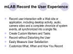 mlab record the user experience