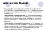 sales increase revenue