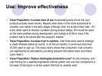 use improve effectiveness17