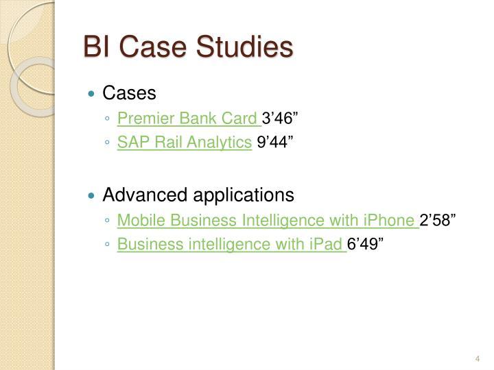 BI Case Studies