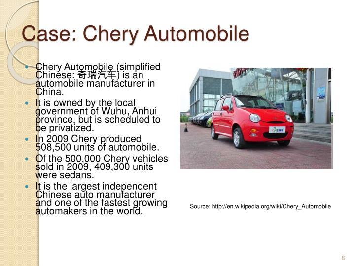 Case: Chery Automobile