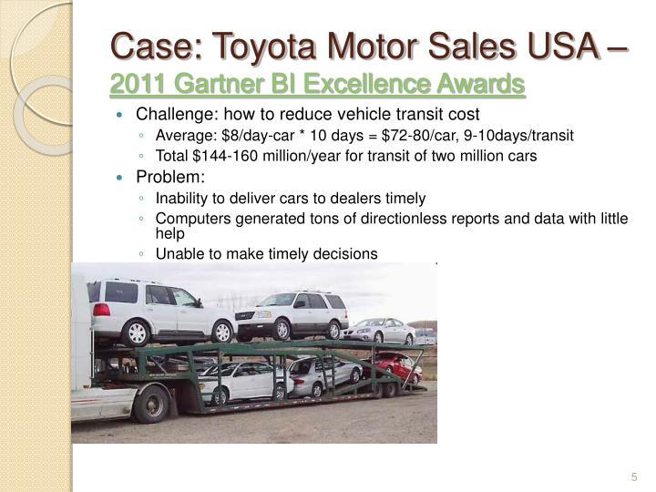 Case: Toyota Motor Sales USA –
