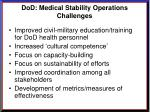 dod medical stability operations challenges