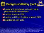 background history cont