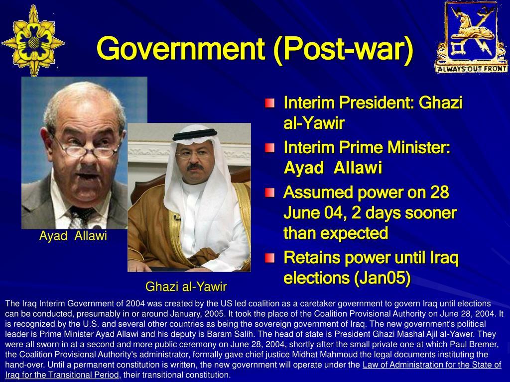 Government (Post-war)