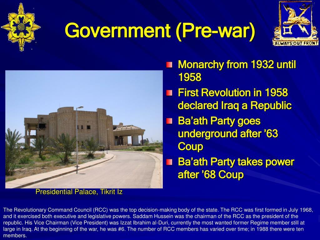 Government (Pre-war)