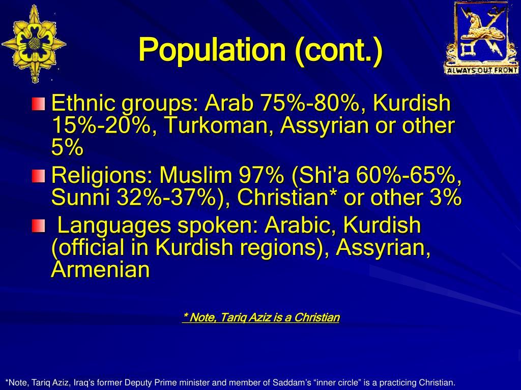 Population (cont.)