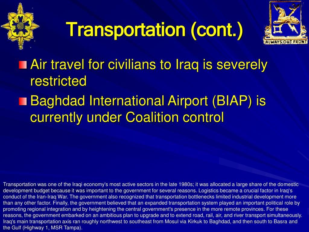 Transportation (cont.)