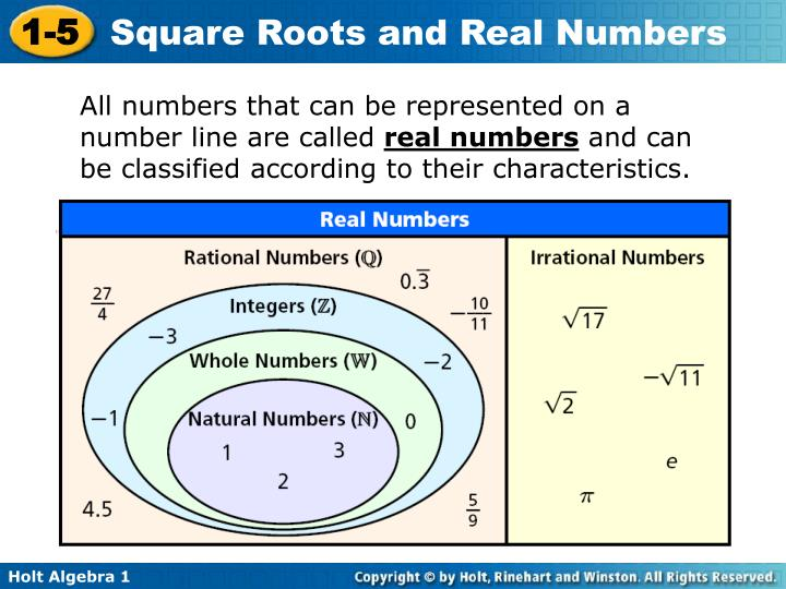 All numbers that can be represented on a number line are called