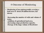 4 outcome of monitoring