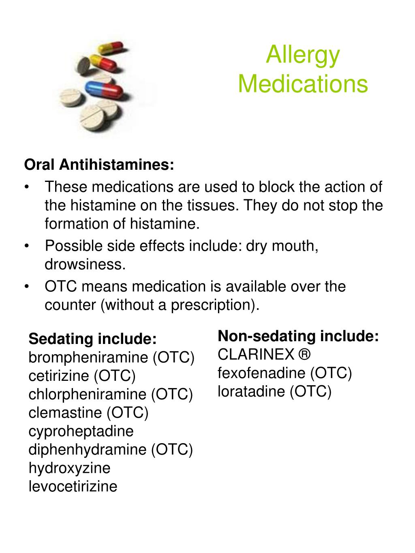 Non-sedating antihistamine clarinex medication