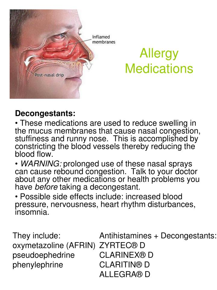 Ppt Allergy Medications Powerpoint Presentation Id 1121273