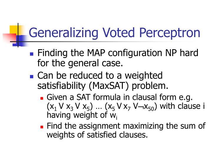 Generalizing Voted Perceptron
