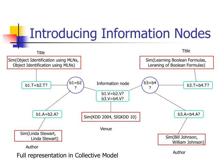 Introducing Information Nodes