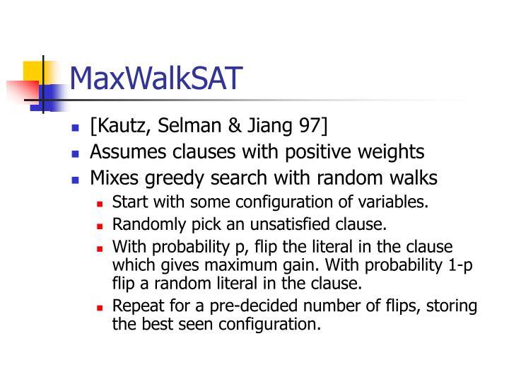 MaxWalkSAT