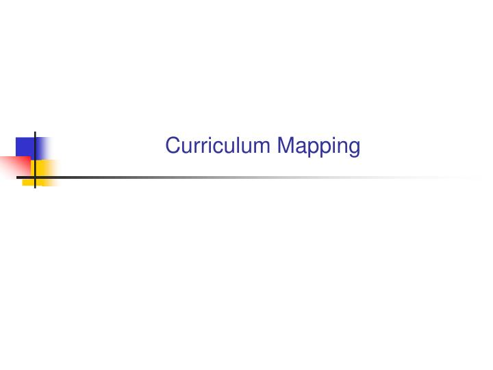curriculum mapping n.