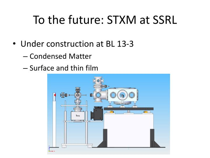 To the future: STXM at SSRL
