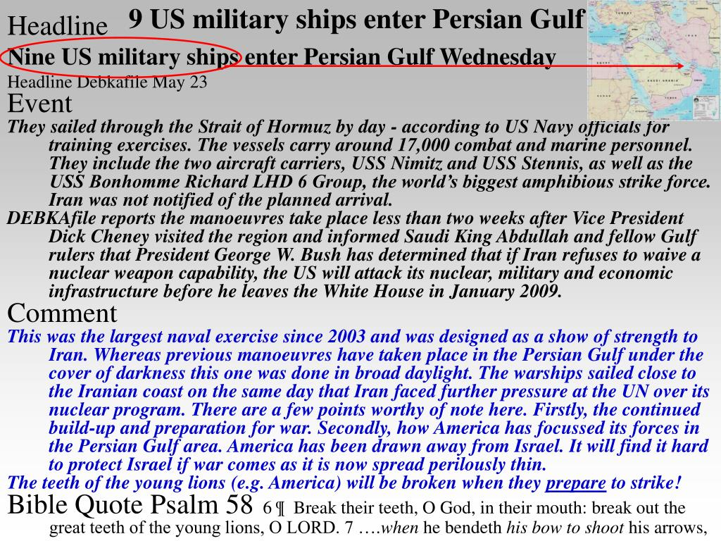 9 US military ships enter Persian Gulf