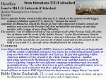 iran threatens us if attacked