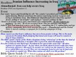 iranian influence increasing in iraq