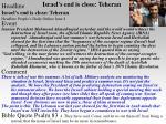israel s end is close teheran