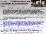 north korea helping iran